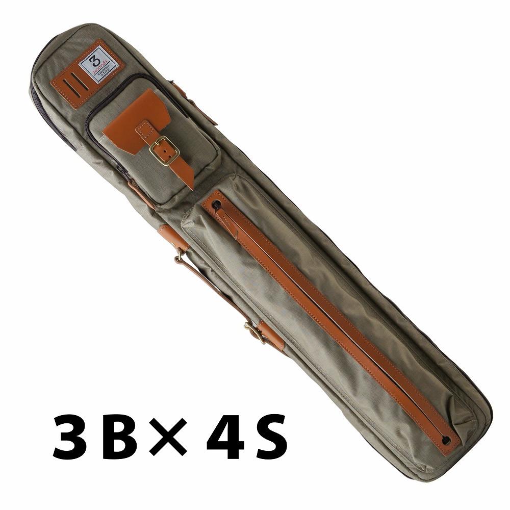 ビリヤード キューケース 送料無料 3 Seconds スリーセカンズ ベージュ 3B4S (バット3本シャフト4本収納)/おしゃれ ファッション センス 綺麗 軽量 スポーティ スポーツ スリーセカンド 自転車 ショルダー リュックタイプ 持ち運び かわいい プレゼント 収納力