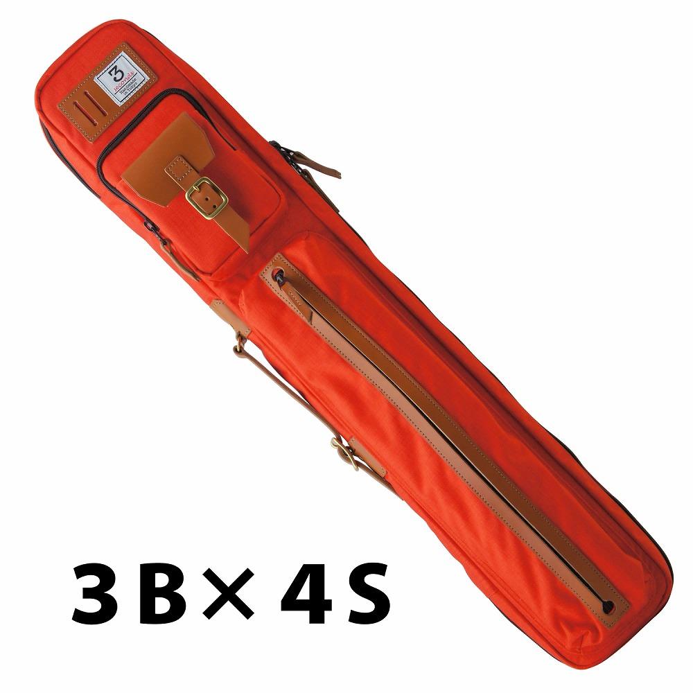 ビリヤード キューケース 送料無料 3 Seconds スリーセカンズ オレンジ 3B4S (バット3本シャフト4本収納)/おしゃれ ファッション センス 綺麗 軽量 スポーティ スポーツ スリーセカンド 自転車 ショルダー リュックタイプ 持ち運び かわいい プレゼント 収納力