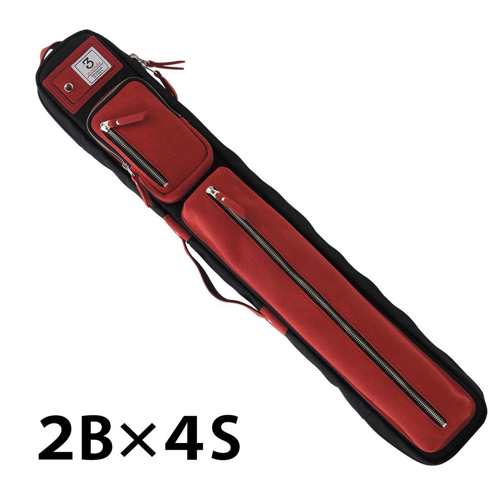 ビリヤード キューケース 3 Seconds スリーセカンズ 2B4S ブラック/レッド (バット2本シャフト4本収納)/おしゃれ ファッション センス 綺麗 軽量 スポーティ スポーツ スリーセカンド 自転車 ショルダー リュックタイプ 持ち運び かわいい プレゼント 収納力