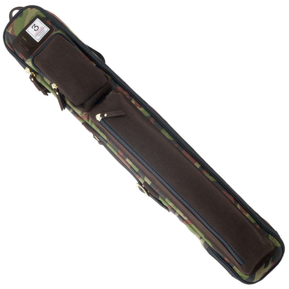 ビリヤード キューケース 3 Seconds スリーセカンズ 2B4S カモフラ/ブラウン 2B4S キャロム・ポケット兼用