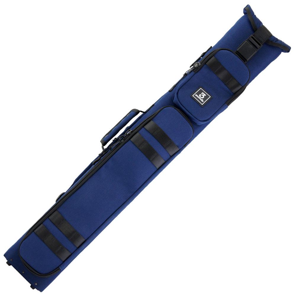 ビリヤード キューケース 送料無料 スリーセカンズ ハードケース ネイビー/紺 3B5S (バット3本シャフト5本収納) 軽量 おしゃれ 格好良い カッコイイ かわいい 持ち易い リュックサック バックパックスタイル