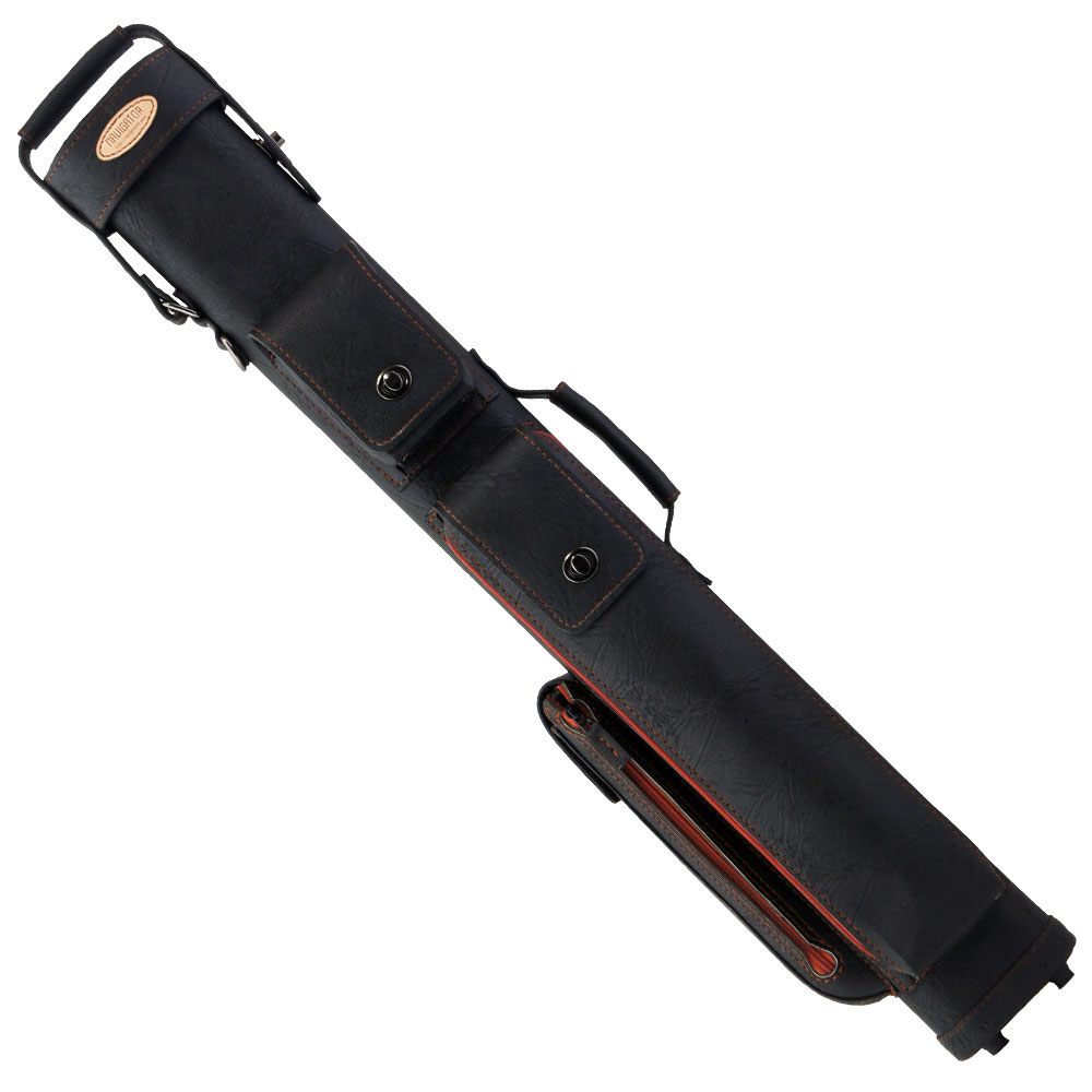 ビリヤード キューケース ナビゲーター ZNM-34 ステッチ&ジッパー ブラック/ブラウン