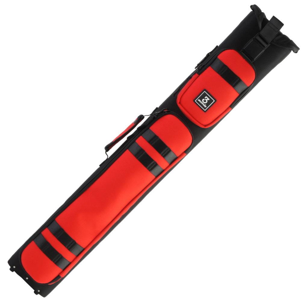 スリーセカンズ ハードケース ブラック/レッド 3B5S (バット3本シャフト5本収納)