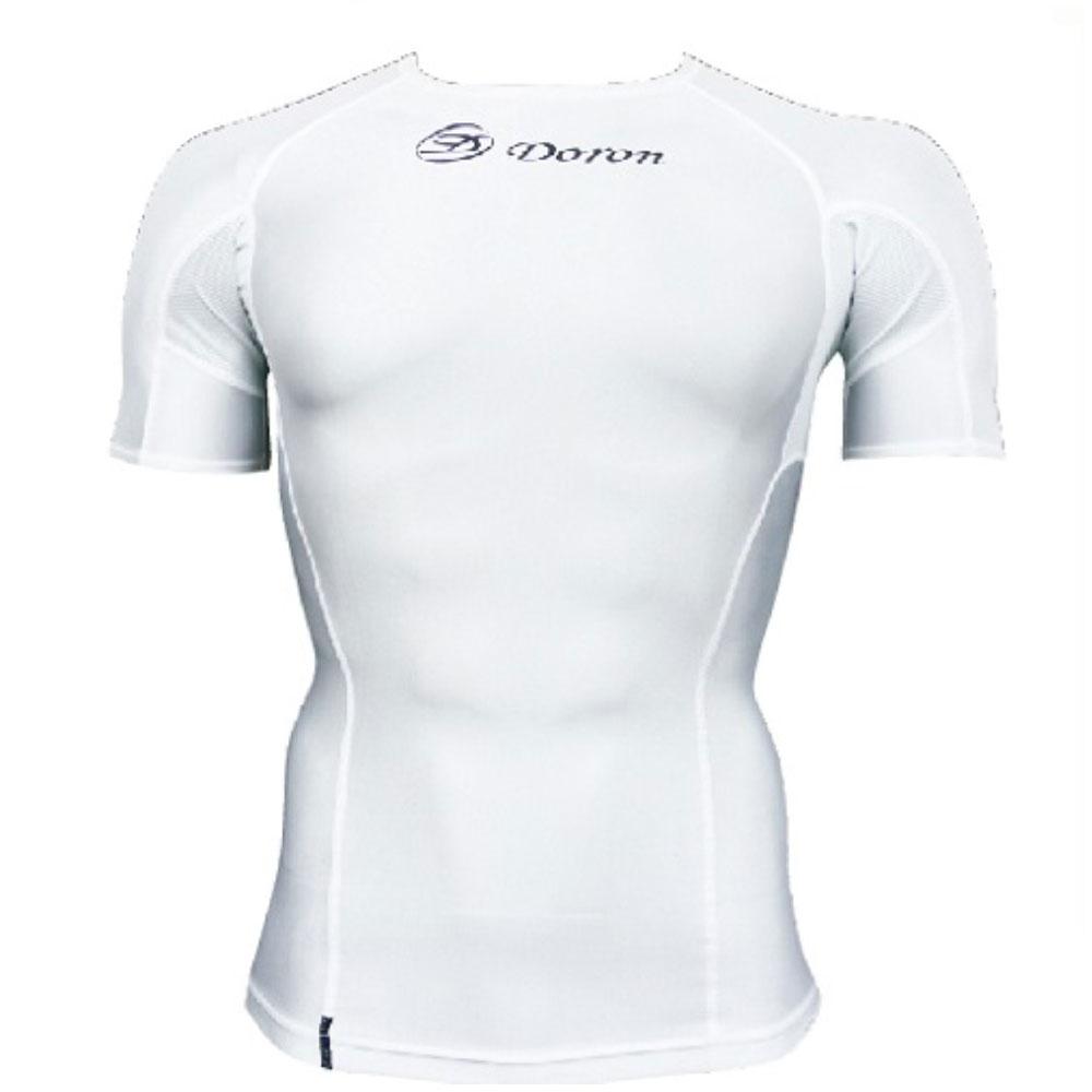 Doron・ドロン 男性用 ショートスリーブシャツ ホワイト S,M,L,XL (SOFTシリーズ)