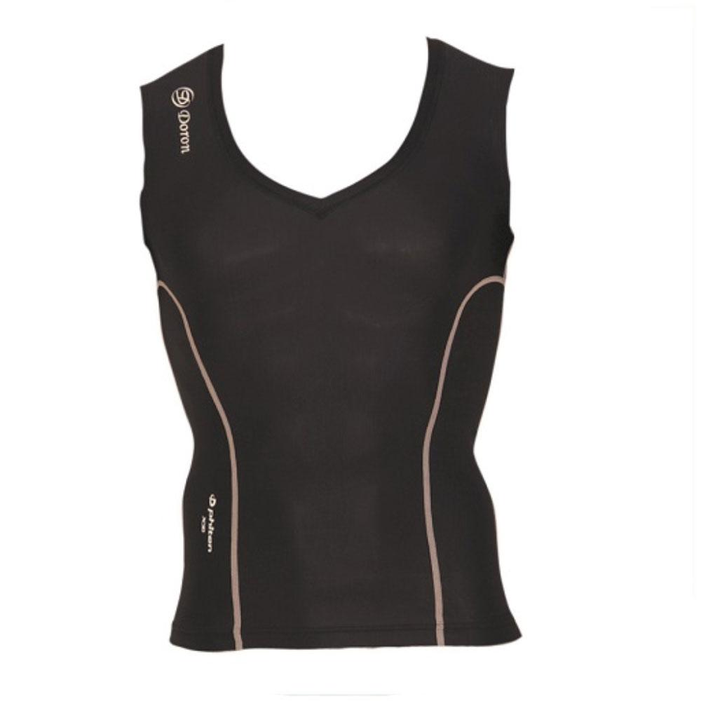 Doron・ドロン 男性用 Vネックシャツ ブラック S,M,L,XL (LIFEシリーズ)