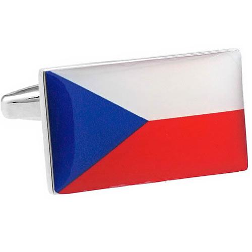 커프스 커프스 버튼 체코 국기 카후린크스멘즈아크세사리의 통판 기프트용 선물용 결혼식 비즈니스용 신생활 10 P03Dec16