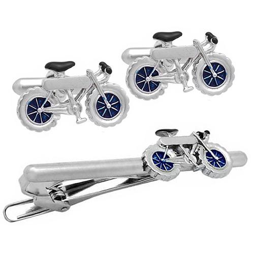 SWANK シルバー 自転車 カフス & ネクタイピン セットメンズアクセサリーの通販ギフト プレゼント お祝い 結婚式 ビジネス 新生活 父の日 彼氏 夫 バレンタイン