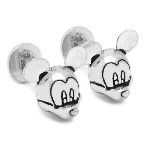 Disney ミッキーマウス 3D カフス カフリンクスアクセサリー メンズジュエリー ジュエリーギフト プレゼント お祝い 結婚式 礼服 結婚式 冠婚葬祭 ビジネス スーツ メンズ 男性 彼氏 夫 新生活 父の日 バレンタイン