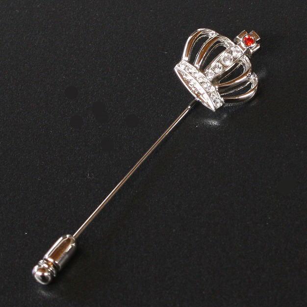鎌倉カフス工房 クラウンモチーフ ラペルピン・ピンズ メンズ  an005