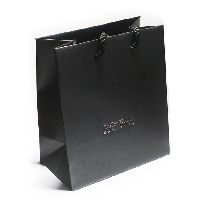 手渡し用手提げ袋 プレゼントにおすすめ 鎌倉カフス工房 ギフト用手提げバック tesage