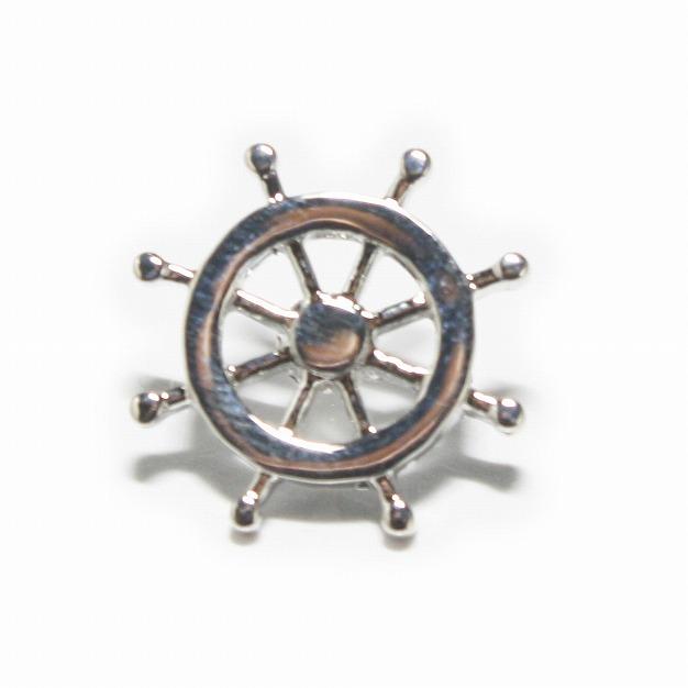 鎌倉カフス工房 舵ピンズ・ラペルピン メンズ cf1249