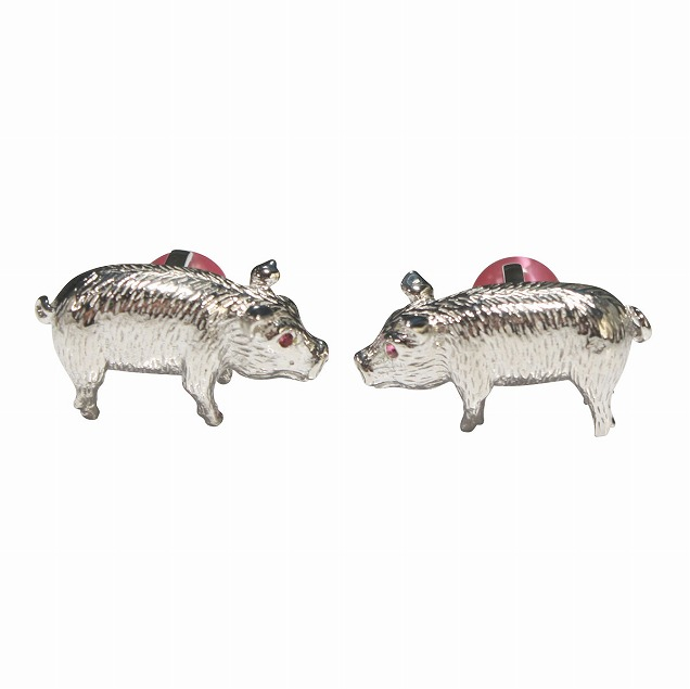 TATEOSSIAN タテオシアン 豚モチーフカフスボタン・カフリンクス メンズ ta026 結婚式 旦那 プレゼント ギフト 彼氏 新生活 誕生日プレゼント