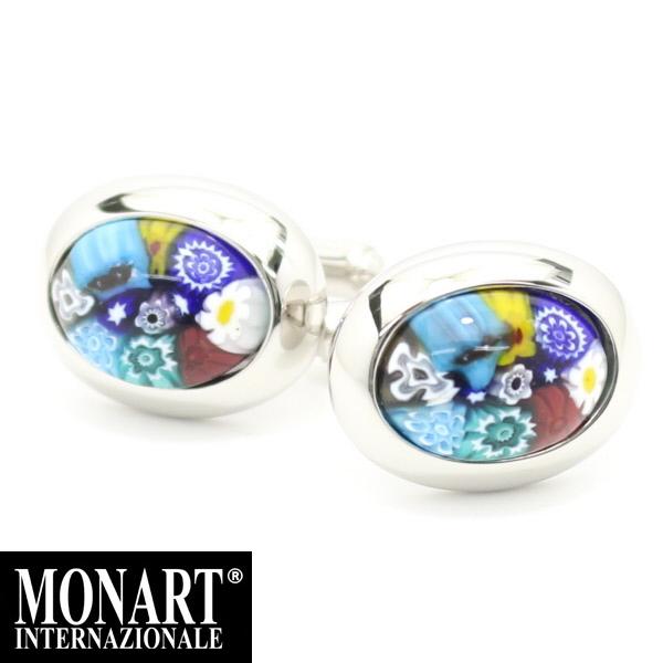 英国 ブランド ベネチアンガラスのフラワーカフス mn5 誕生日 プレゼント おしゃれ カフスマニア