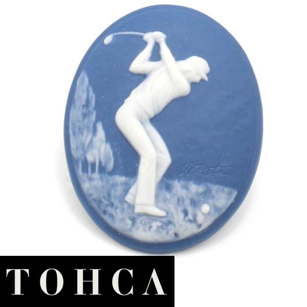 陶華 TOHCA 数量限定オーバル ブルー ゴルファーのタイタック ピンブローチ ラペルピン 誕生日 贈り物 プチギフト スーツアクセサリー専門店 誕生日 プレゼント プチギフト おしゃれ カフスマニア