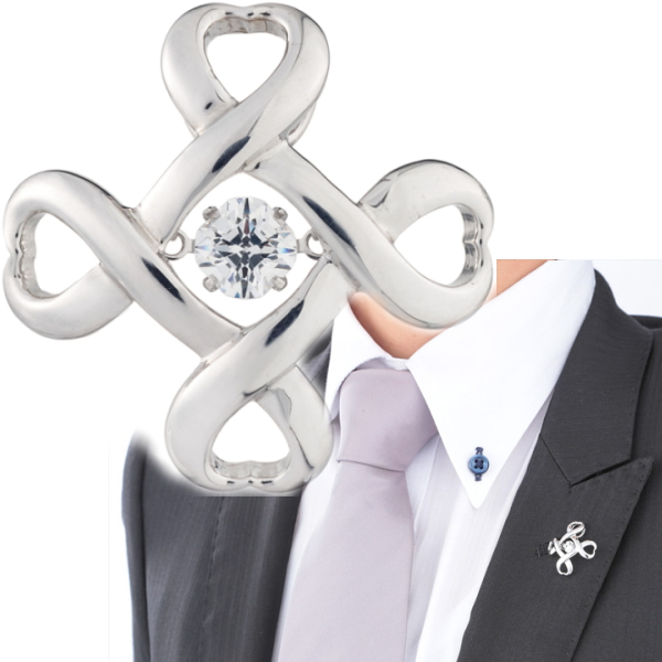 Crossforクロスフォー Crossfor logo4 ラペルピン メンズ ブローチ NY-T001 日本製 ブランド 結婚式 スーツアクセサリー専門店 父の日 ギフトにも 男性 ブライダル 披露宴 二次会 お呼ばれ パーティー おしゃれ カフスマニア