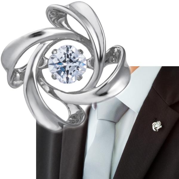 Crossforクロスフォー Spiral1 ラペルピン メンズ ブローチ NY-T014 日本製 ブランド 結婚式 スーツアクセサリー専門店 父の日 ギフトにも 男性 ブライダル 披露宴 二次会 お呼ばれ パーティー おしゃれ カフスマニア
