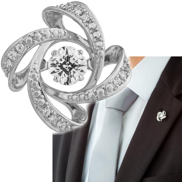 Crossforクロスフォー Spiral2 ラペルピン ブローチ NY-T015 あす楽対応日本製 ブランド 結婚式 スーツアクセサリー専門店 ブライダル 披露宴 二次会 お呼ばれ パーティー おしゃれ カフスマニア