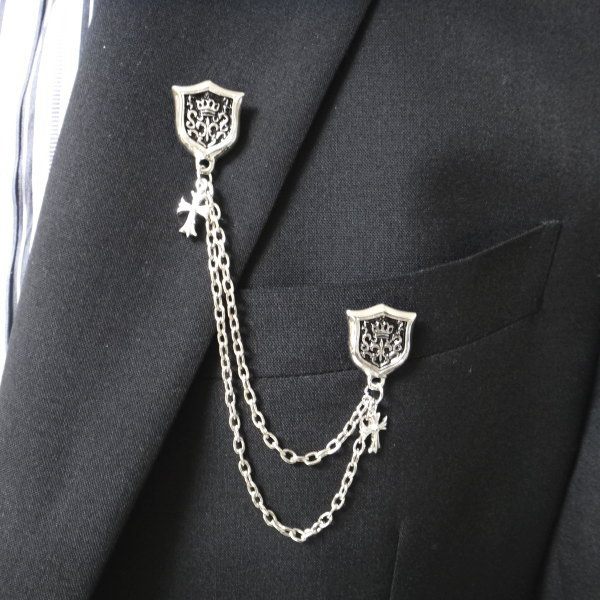 rudder suit image crystal anchor tassels chains loading s itm lapel amp is brooch pin collar