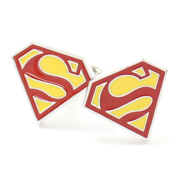 cuffsmania ally of justice superman mark cufflinks cuff links and