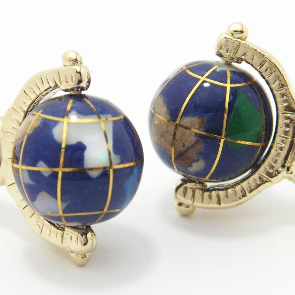 いつでも世界旅行 地球儀 カフス カフリンクス カフス 誕生日 贈り物 プチギフト スーツアクセサリー専門店 誕生日 プレゼント プチギフト おしゃれ カフスマニアW29DHEI