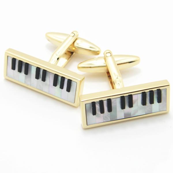 パール&オニキスのピアノ カフス カフスボタン カフリンクス cufflinks cuffs メンズ 男性 ユニーク おもしろ 面白 面白い 音楽 楽器 スーツアクセサリー専門店 誕生日 プレゼント プチギフト おしゃれ カフスマニア