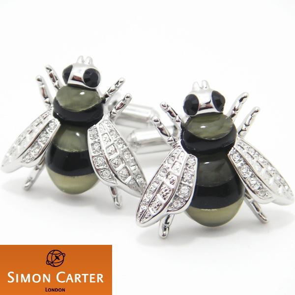 カフス サイモンカーター 英国 ブランド SIMON CARTER Bee 蜂 カフス カフスボタン cufflinks cuffs メンズ 男性 ユニーク おもしろ 面白 面白い 動物 植物シリーズ スーツアクセサリー専門店 誕生日 プレゼント プチギフト おしゃれ カフスマニア