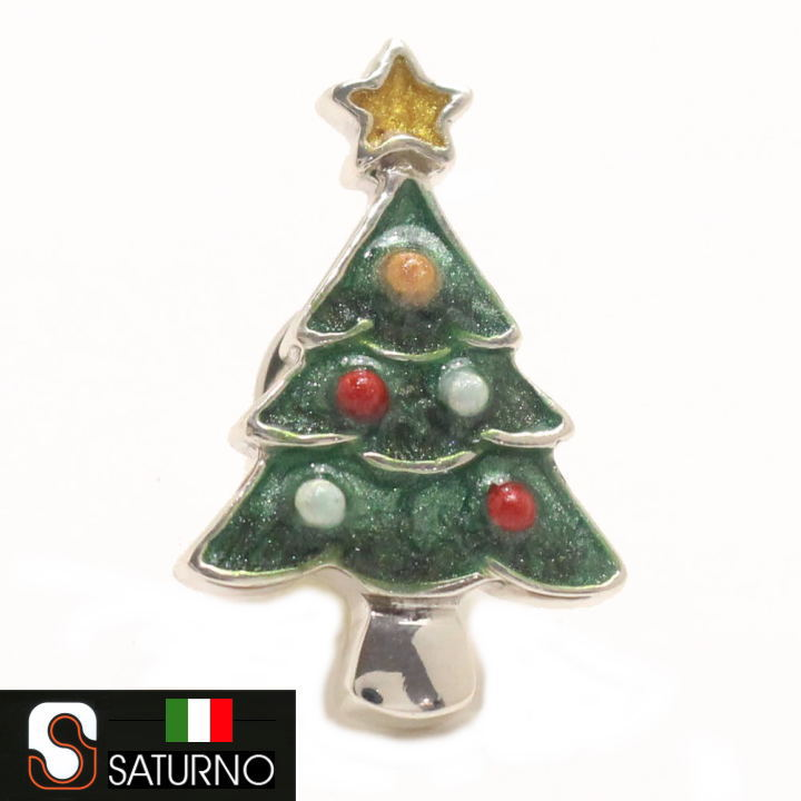 SATURNO サツルノ クリスマスツリー ラペルピン ピンブローチ あす楽対応 スーツアクセサリー専門店 誕生日 プレゼント プチギフト おしゃれ カフスマニア