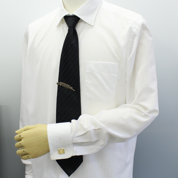 2 colors and chain with one stone and feather and feather tie pin (tie)