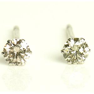 プラチナ&ダイヤモンドピアス0.1ct×2