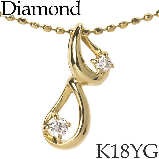 ダイヤモンド ネックレス K18イエローゴールド カットアズキチェーン K18YG 18KYG 18金 送料無料 [kh][62176260]