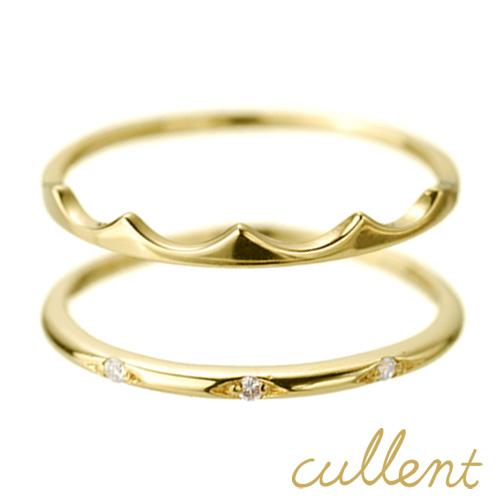 K18 ダイヤモンド ピンキーリングセット tiara layer ピンキーリング 18金 18k ダイヤモンド レディース 指輪 ジュエリー アクセサリー ゴールド 【あす楽対応】