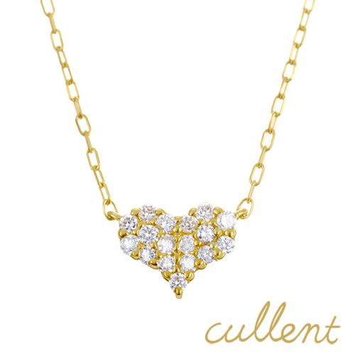 ダイヤモンド ネックレス K18 pave heart ネックレス K18 18金 18k ゴールド ダイヤモンド ダイヤ レディース  ジュエリー アクセサリー おしゃれ ハート ピンクゴールド