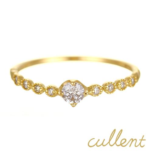 K18 ダイヤモンド ピンキーリング~リング amoroso リング K18 18金 18k ゴールド ダイヤモンド ダイヤ 指輪 レディース  ジュエリー アクセサリー おしゃれ ダイア 重ねづけ