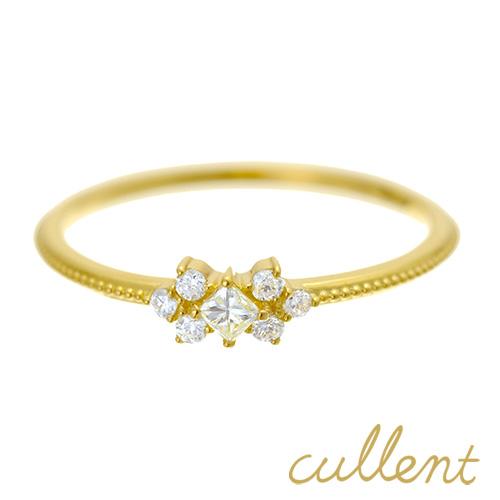 K18 ダイヤモンド リング decoration リング K18 18金 18k ゴールド ダイヤモンド レディース  ジュエリー アクセサリー おしゃれ 華奢 重ねづけ