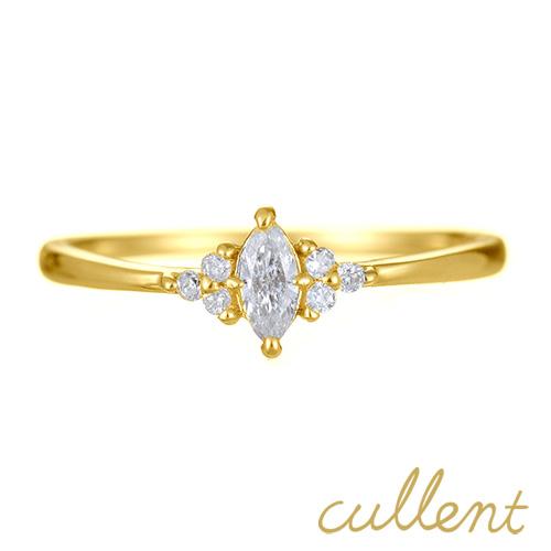 K18ダイヤモンドリング dignity リング K18 18金 18k ゴールド ダイヤモンド 指輪 レディース ジュエリー アクセサリー おしゃれ マーキスカット ファンシーカット ダイア