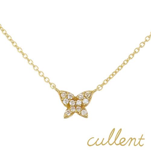 ダイヤモンド ネックレス K18 butterfly  ネックレス K18 18金 18k ゴールド ダイヤモンド ダイヤ レディース バタフライ 蝶 ピンクゴールド