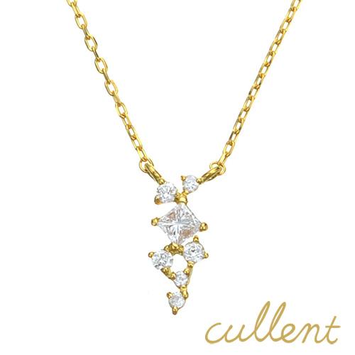 ダイヤモンド ネックレス K18 ornament ネックレス K18 18金 18k ダイヤモンド ダイヤ レディース  ジュエリー アクセサリー おしゃれ アンティーク ピンクゴールド