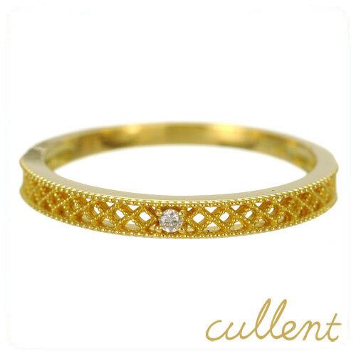 K18 ダイヤモンドリング cloth リング K18 18金 18k ゴールド ダイヤモンド ダイヤ 指輪 レディース シンプル