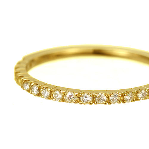 K18 ダイヤモンドリング eternal  リング K18 18金 18k ゴールド ダイヤモンド ダイヤ 指輪  レディース シンプル