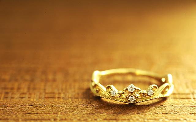 K18 ダイヤモンドピンキーリング wave tiaraピンキーリング リング 指輪 K18 18金 ゴールド 18k ティアラ ダイヤモンド ピンクゴールドzrWeCxBdo