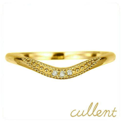 K18ダイヤモンドリング KOKORO リング 指輪 18金 K18 18k ゴールド マリッジ 結婚指輪 ペアリング 幅広