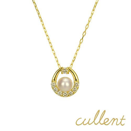 k18ダイヤモンドパールネックレス sea drop ネックレス K18 18金 18k ゴールド ダイヤモンド ダイヤ ペンダント レディース ジュエリー アクセサリー イエローゴールド ピンクゴールド