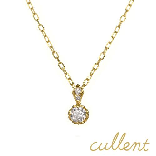 K18ダイヤモンドネックレス clotho ネックレス ペンダント K18 18金 18k ダイヤモンド レディース ジュエリー アクセサリー おしゃれ ピンクゴールド ホワイトゴールド シンプル 1粒