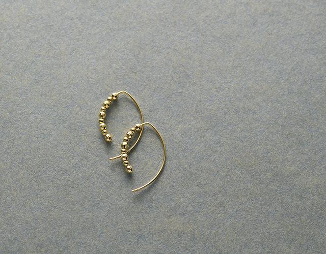 k18フープピアス glomorous petit leafピアス K18 18金 18k ゴールド 小ぶり 小さい シンプル レディース ジュエリー アクセサリー おしゃれf6gy7Ybv