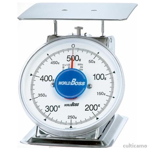 ワールドボス さびないステンレス上皿秤 SA-500S 500g BHK-88[関連:WORLDBOSS 業務用 ステンレス製 計量器 上皿式 針はかり 鮮魚 野菜 精肉 ハカリ 秤]
