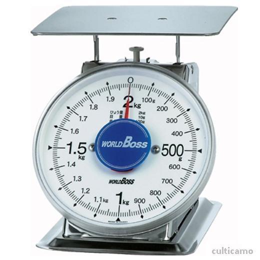 ワールドボス さびないステンレス上皿秤 SA-2S 2kg BHK-88[関連:WORLDBOSS 業務用 ステンレス製 計量器 上皿式 針はかり 鮮魚 野菜 精肉 ハカリ 秤]