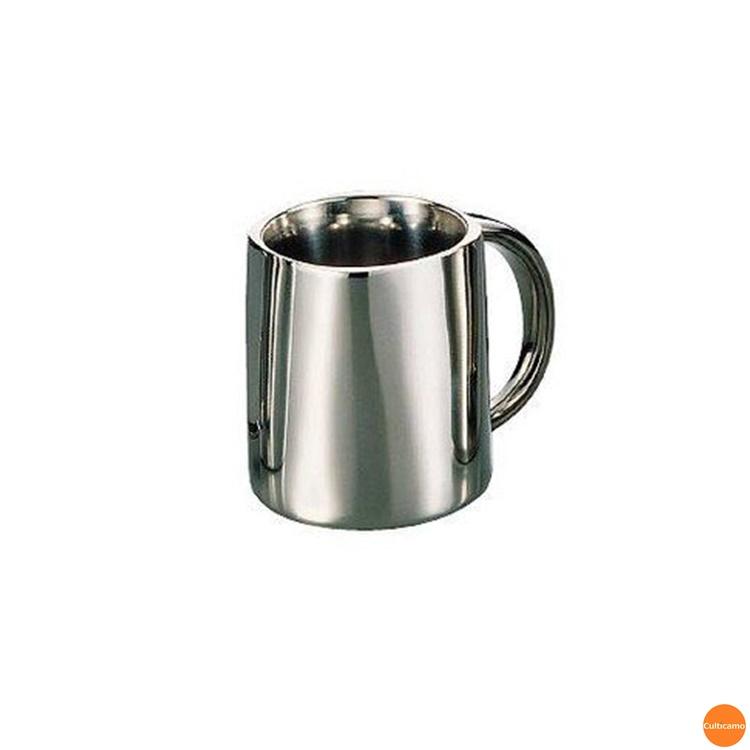 18-8SR グランディーマグ 二重構造 350cc PGL-05[関連:野崎製作所 業務用 食器 アウトドア ダブルウォール マグカップ コップ カフェ バー コーヒー 紅茶 ジュース 保温 保冷]