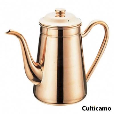 銅 無地コーヒーポット #13 PKC-43[関連:業務用 喫茶用品 珈琲 コーヒー サービス ポット]