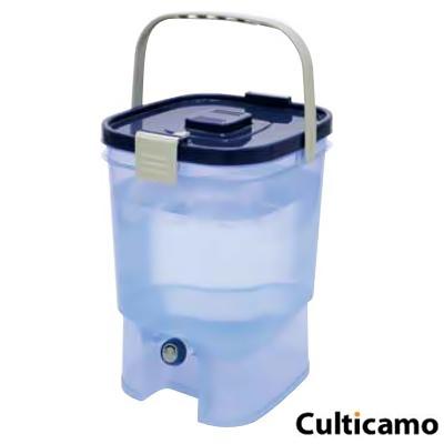 半透明で残量が一目で確認できます 水缶 19L FMZ-07[関連:スポーツ アウトドア用品 災害対策 防災用品 ドリンク ウォーター サーバー ディスペンサー]