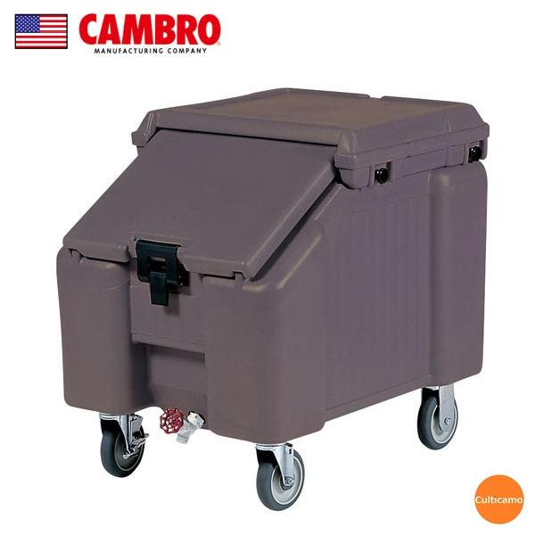 キャンブロ スラントトップ アイスキャディ ICS100L ダークブラウン FAI-C2[関連:CAMBRO アメリカ 業務用 氷 大容量 保冷ボックス コンテナー]